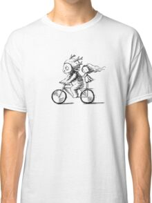 Girl and a monster on a bike Classic T-Shirt