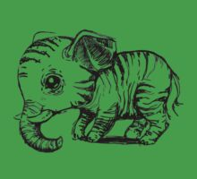 Little elephant One Piece - Short Sleeve