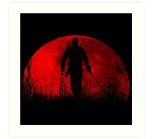 Red moon v2 Art Print