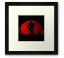 Red moon v2 Framed Print