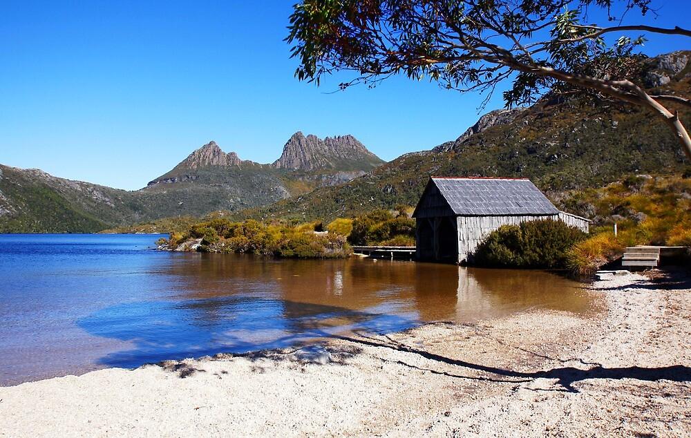 Beautiful Tasmania - Boatshed framed by georgieboy98