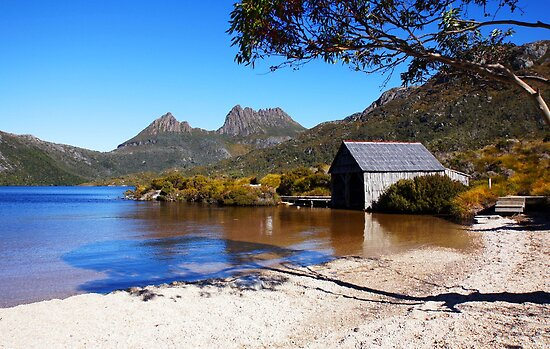 Beautiful Tasmania - Boatshed framed by georgieboy98