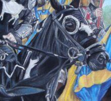jousting Knights on horses historic realist art  Sticker