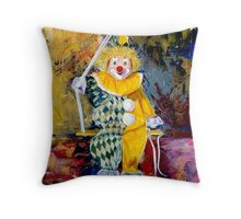 The Invisible Tears of the Clown Throw Pillow
