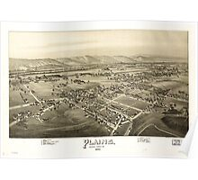 Panoramic Maps Plains Luzerne County Pa Poster