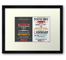 Here's To The Crazy Ones - In Memory of Steve Jobs Framed Print