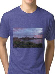 City landscape at sundown Tri-blend T-Shirt