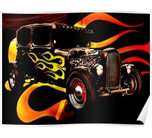 Hot Rod Flames Poster