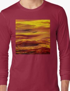 Yellow River Flow Abstract Long Sleeve T-Shirt