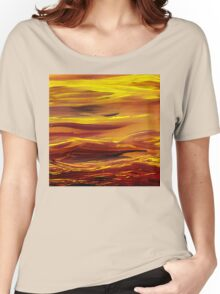 Yellow River Flow Abstract Women's Relaxed Fit T-Shirt
