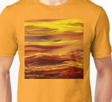 Yellow River Flow Abstract Unisex T-Shirt