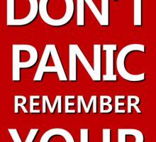 DON'T PANIC Sticker Sticker