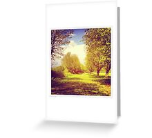 Sunny afternoon in the park Greeting Card