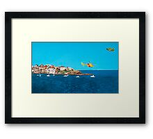 Sydney 2000 - Olympic Torch Landing by Sea - Panel 3 Framed Print
