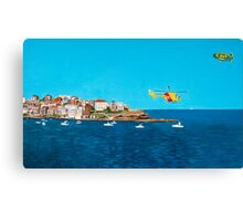 Sydney 2000 - Olympic Torch Landing by Sea - Panel 3 Canvas Print