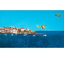 Sydney 2000 - Olympic Torch Landing by Sea - Panel 3 Photographic Print