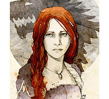 Sansa Stark_iPhone case by elia, illustration