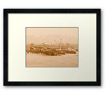Wrecks at Faversham Creek Framed Print