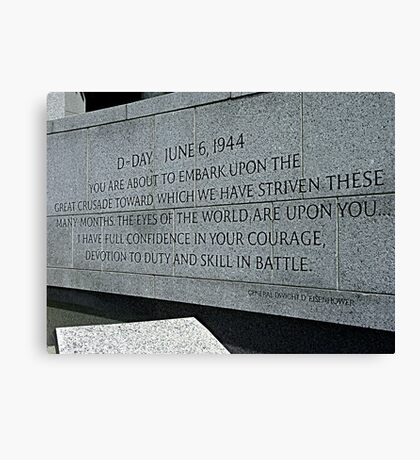 A GENERAL'S WORDS Canvas Print