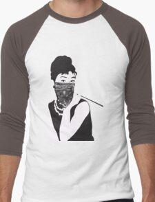 Gangster Audrey Hepburn | STICKER Men's Baseball ¾ T-Shirt
