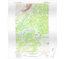 USGS Topo Map Washington State WA Cheney 240457 1980 24000 Poster