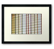 A Row of Books Framed Print