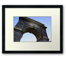 Arch in Washington Square Park Framed Print