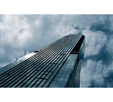 Blue Skyscraper Photographic Print
