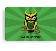 Owl of Mischief Canvas Print