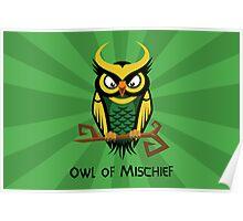 Owl of Mischief Poster