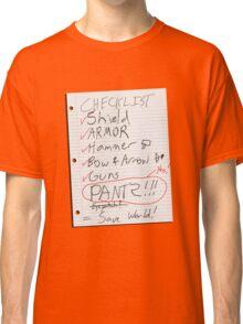 Alien Invasion Checklist Classic T-Shirt