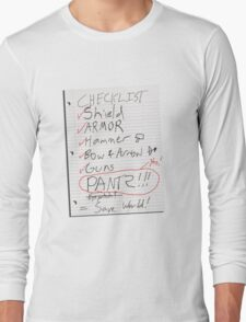 Alien Invasion Checklist Long Sleeve T-Shirt