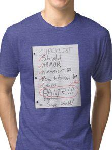 Alien Invasion Checklist Tri-blend T-Shirt