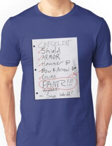 Alien Invasion Checklist Unisex T-Shirt