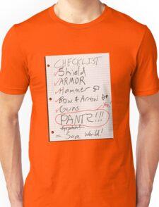 Alien Invasion Checklist Unisex T-Shirt
