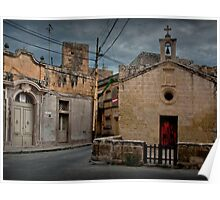 Chapel of St Roque, Zebbug (My Home Town) Island of Malta Poster