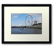 London - Beautiful London Eye Framed Print