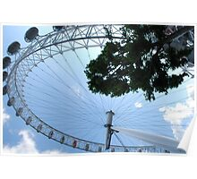 London - Eye on river thames Poster