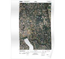 USGS Topo Map Washington State WA Redmond 20110422 TM Poster