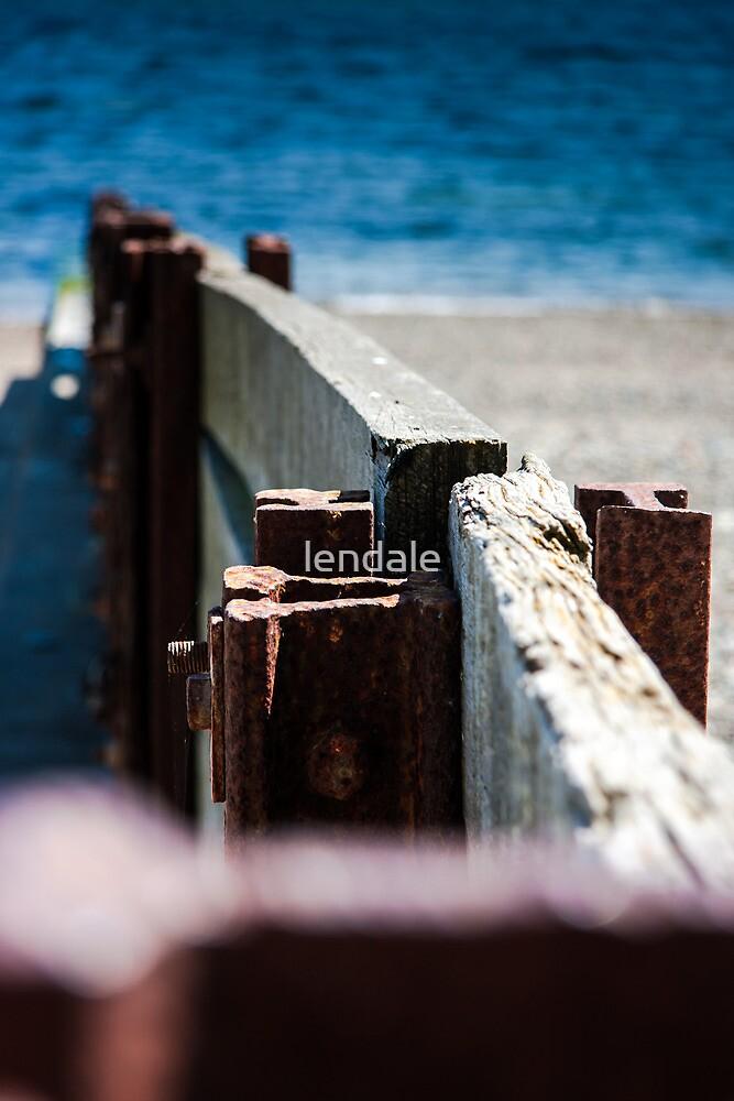 Criccieth beach Groins. by lendale