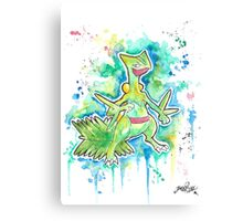 Epic Sceptile Watercolor Tshirts + More! ' Pokemon ' Jonny2may Canvas Print