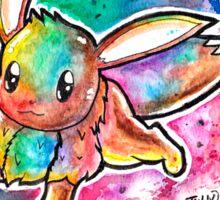 Cute Eevee Watercolor Tshirts + More! ' Pokemon ' Jonny2may Sticker