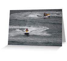 Painting The Pacific Ocean - Pintando El Oceano Pacifico Greeting Card