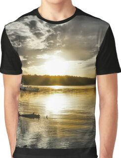 Gold Sunset Graphic T-Shirt