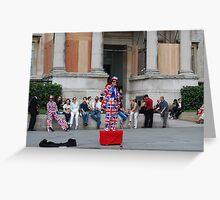 London - Union Jack Lady Greeting Card