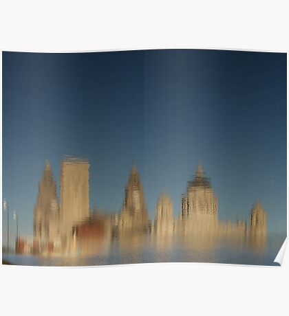 Liverpool Waterfront in the Breeze Poster
