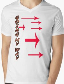 Going My Way Mens V-Neck T-Shirt