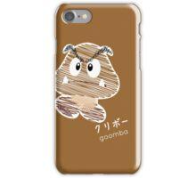 goomba -scribble- iPhone Case/Skin