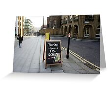London - Fish and chips Greeting Card