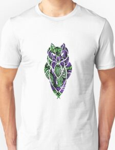 Owl Mosaic Green / Purple  Unisex T-Shirt